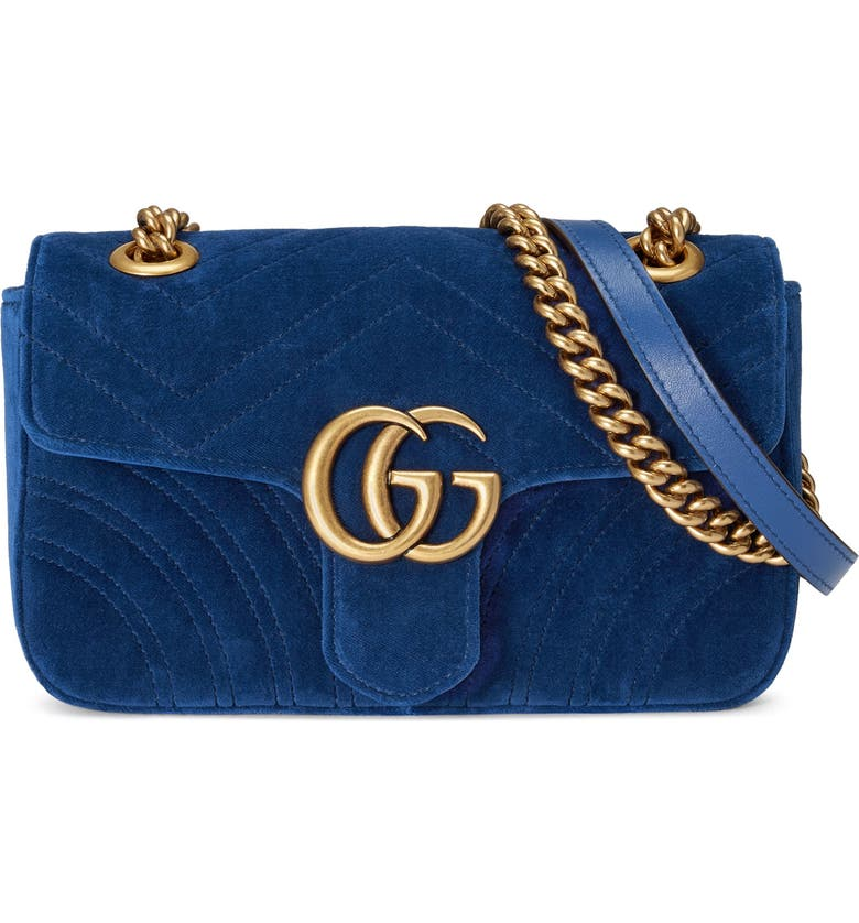 7fffef651 Small GG Marmont 2.0 Matelassé Velvet Shoulder Bag, Main, color, 426