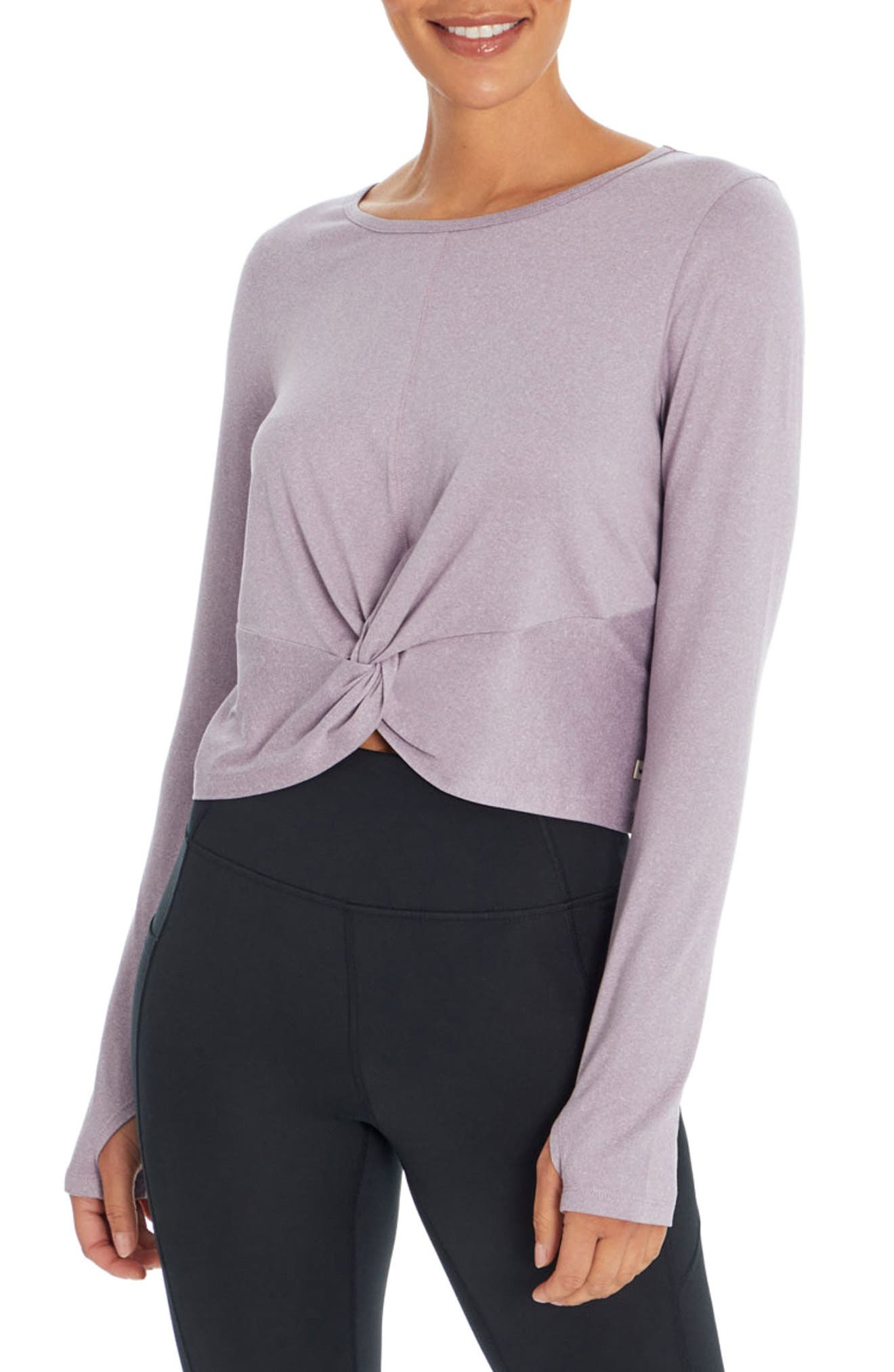 Image of Jessica Simpson Margot Long Sleeve Twist Top