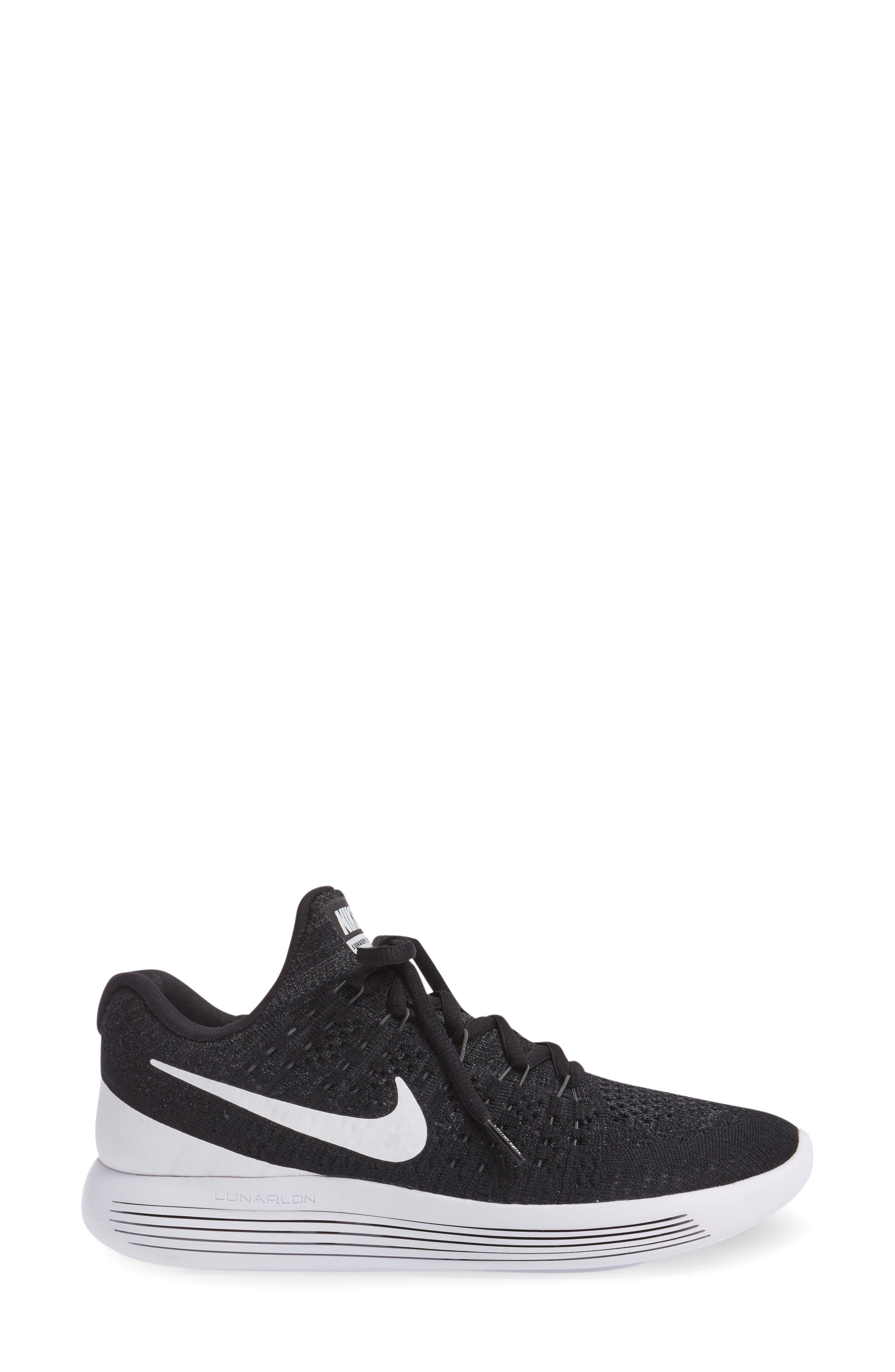,                             LunarEpic Low Flyknit 2 Running Shoe,                             Alternate thumbnail 9, color,                             001