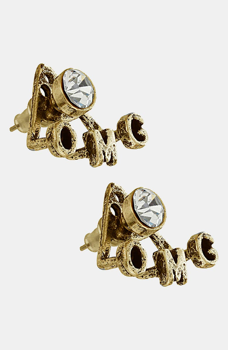 TOPSHOP 'OMG' Earrings, Main, color, 040