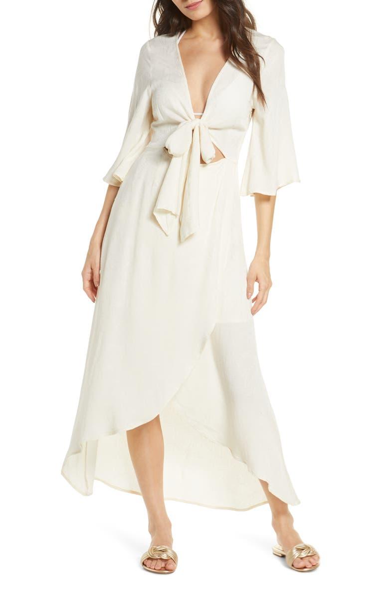 L SPACE Kellen Cover-Up Dress, Main, color, CREAM