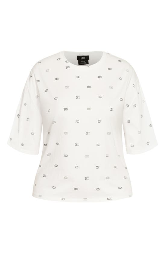 City Chic PHYSICAL ALLOVER GRAPHIC TEE