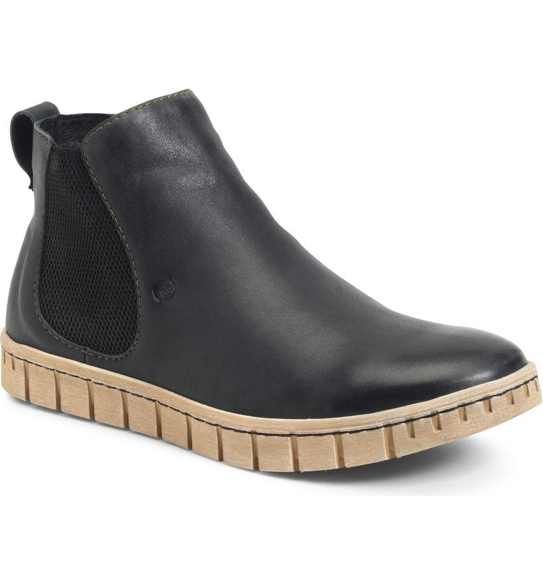 BØRN Salado Mid Chelsea Boot, Main, color, BLACK LEATHER
