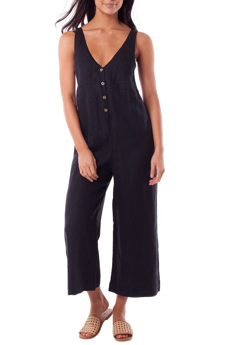 RHYTHM Amalfi Cover-Up Jumpsuit, Main, color, 001