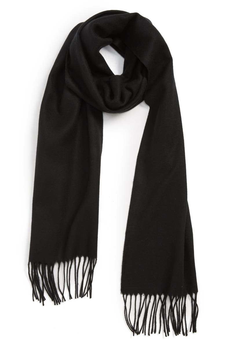 THE RAIL Solid Fringed Scarf, Main, color, 001