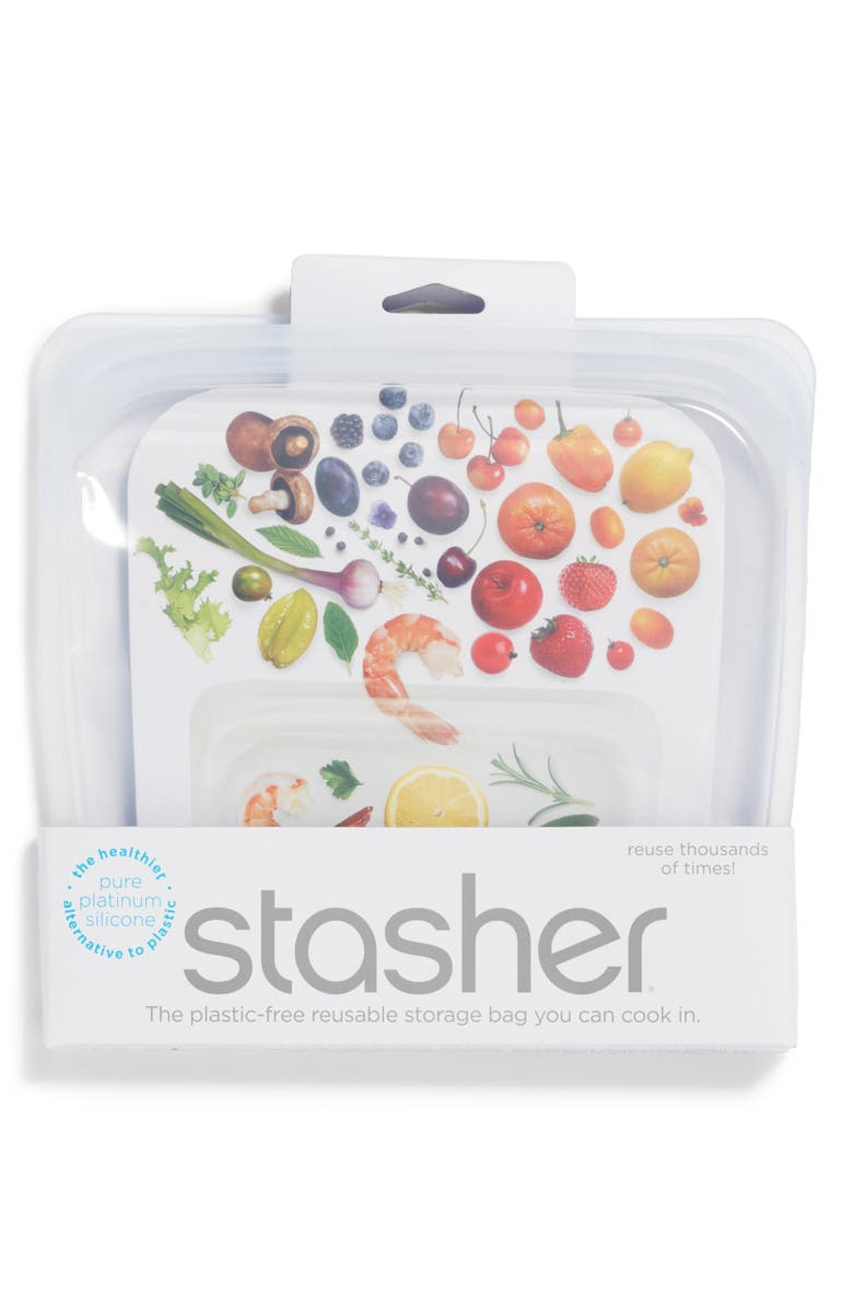 59b06673b857 Sandwich Reusable Silicone Storage Bag, Main, color, CLEAR