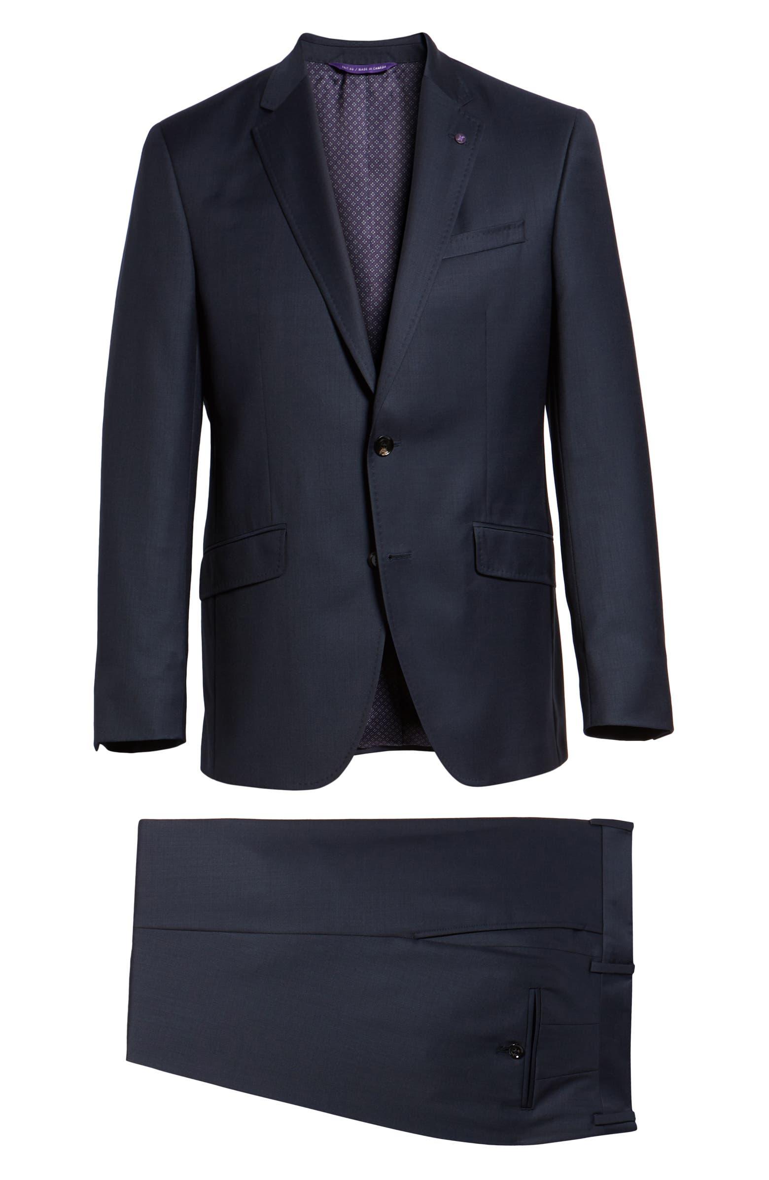 Jones Trim Fit Solid Wool Suit TED BAKER LONDON