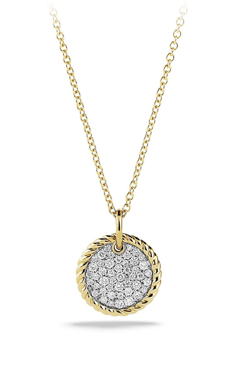 DAVID YURMAN 'Cable Collectibles' Pavé Charm with Diamonds in Gold, Main, color, DIAMOND