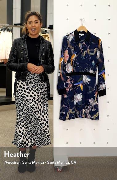 Gilda Tropical Print Long Sleeve Shirtdress, sales video thumbnail
