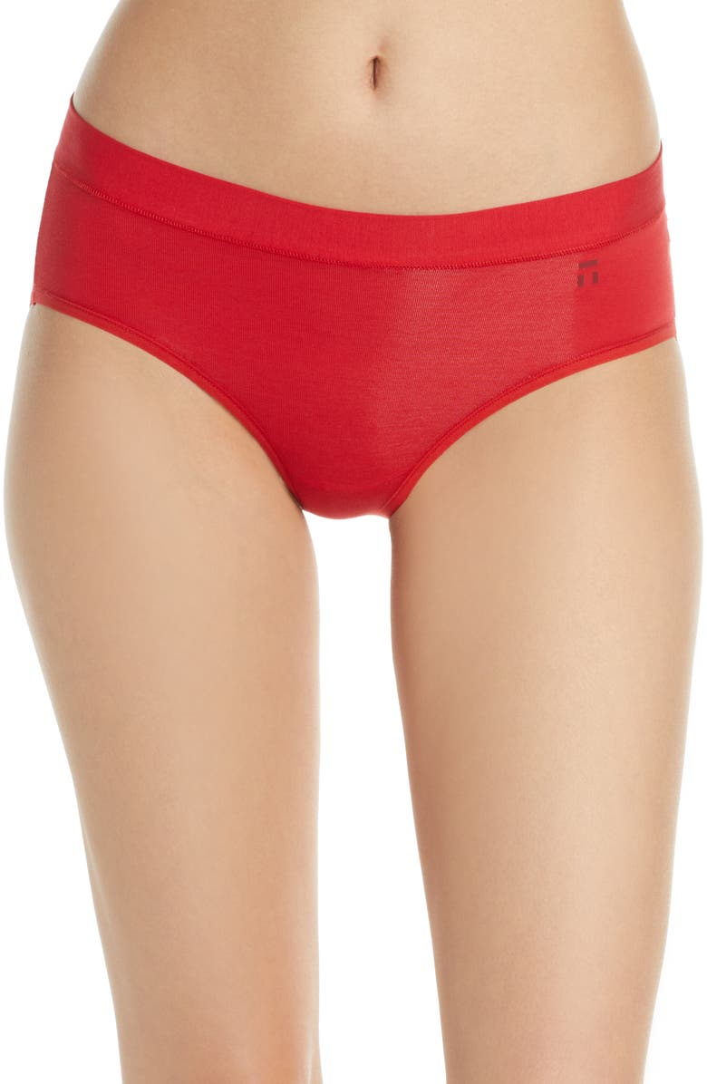 TOMMY JOHN Cool Cotton Briefs, Main, color, HAUTE RED