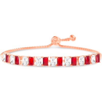 Lesa Michele Cubic Zirconia Slider Bracelet