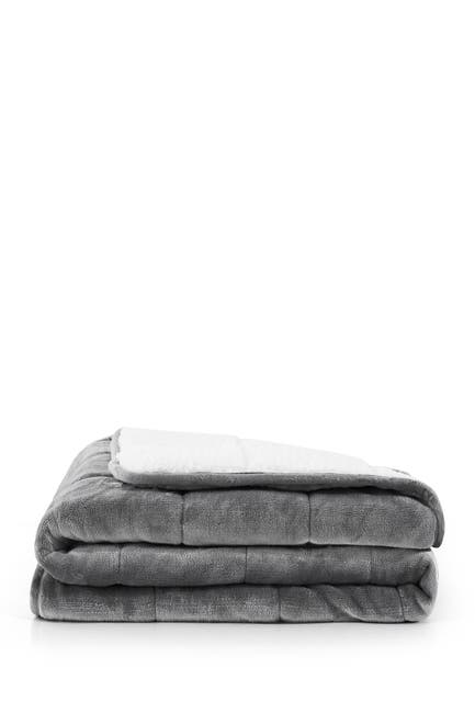 Image of Rejuve MD Solid Fleece Faux Shearling 15lb Weighted Blanket