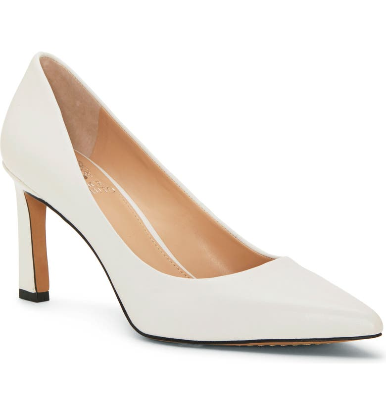 VINCE CAMUTO Retsie Pointed Toe Pump, Main, color, PURE LEATHER