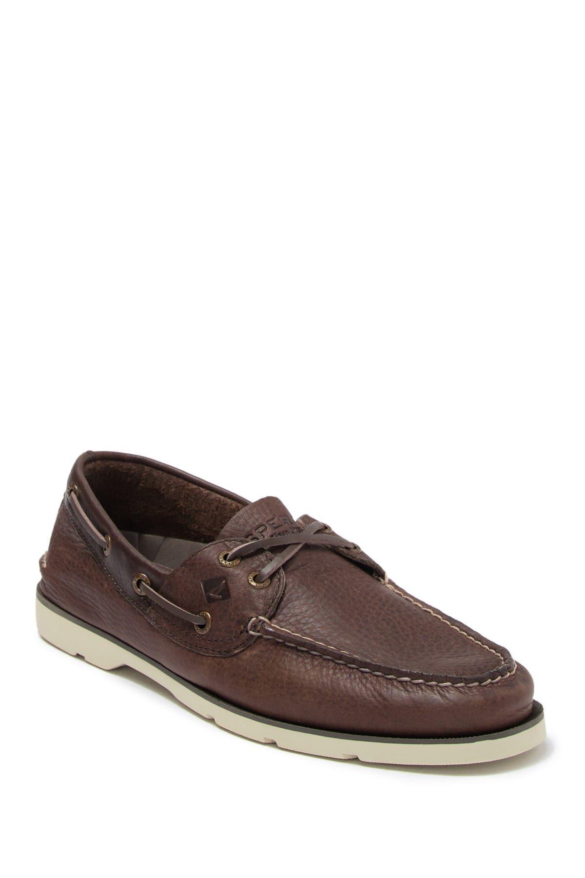Image of Sperry Leeward 2 Eye Leather Boat Shoe