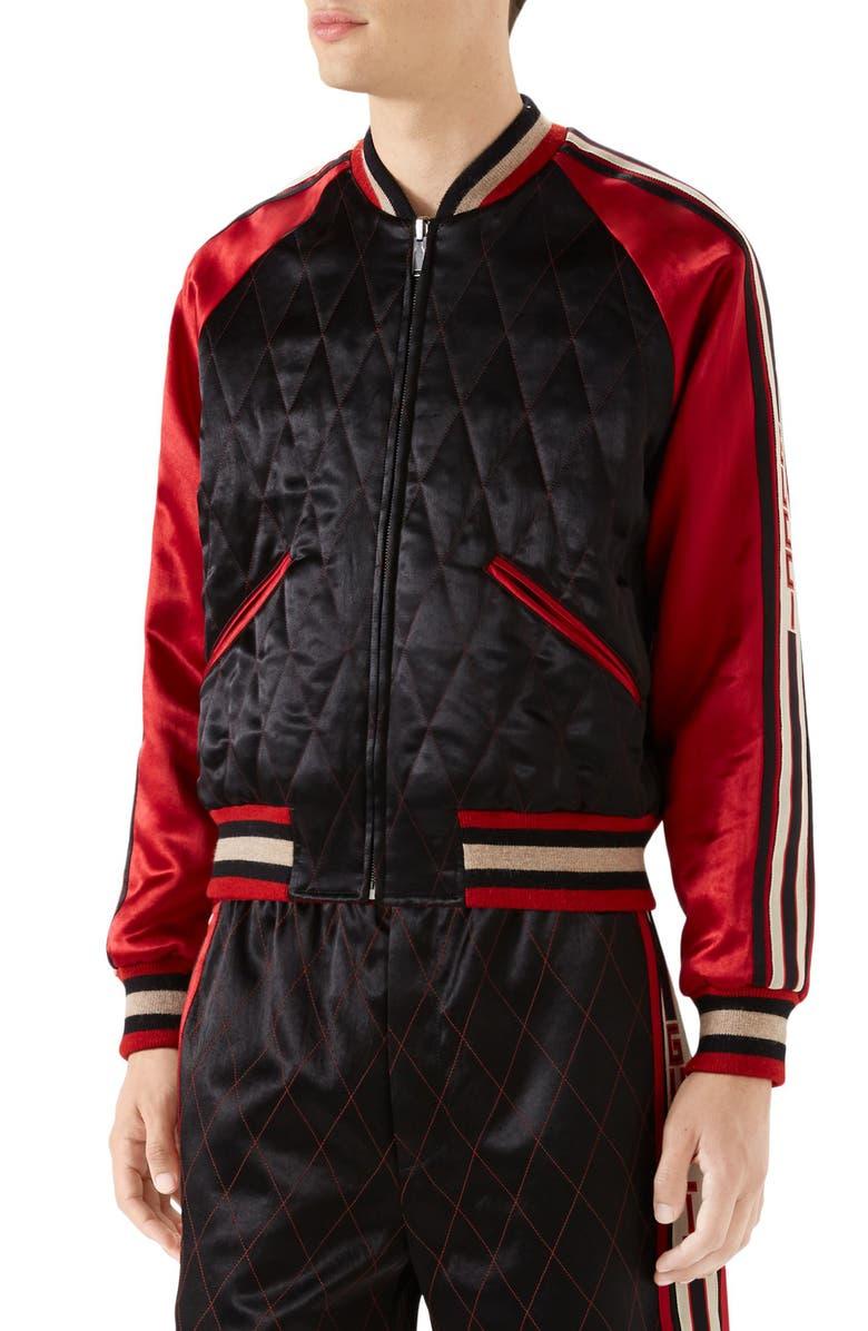 GUCCI Reversible Quilter Souvenir Jacket, Main, color, 001