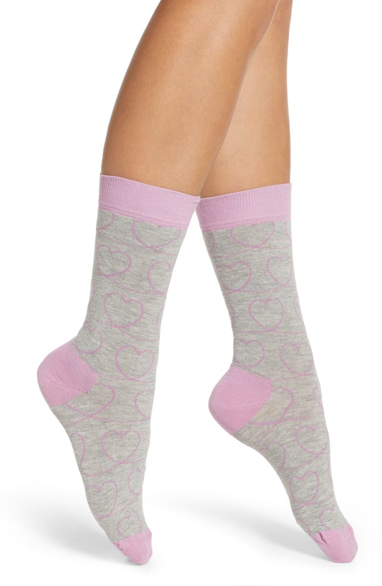 Happy Socks Ladies Love Line Crew Socks