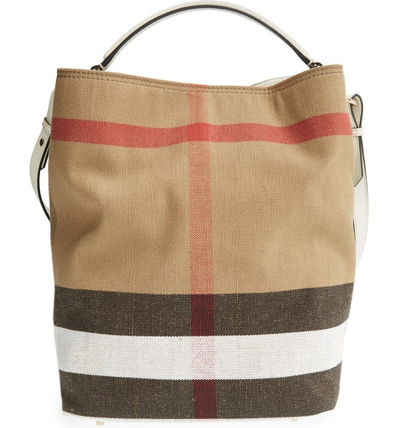 770cb9041 Burberry Brit 'Medium Susanna' Canvas Check Bucket Bag | Nordstrom