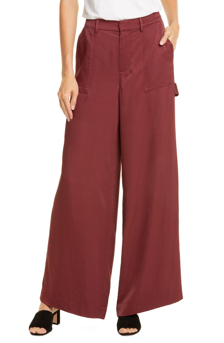 OPENING CEREMONY High Waist Carpenter Trousers, Main, color, UMBER