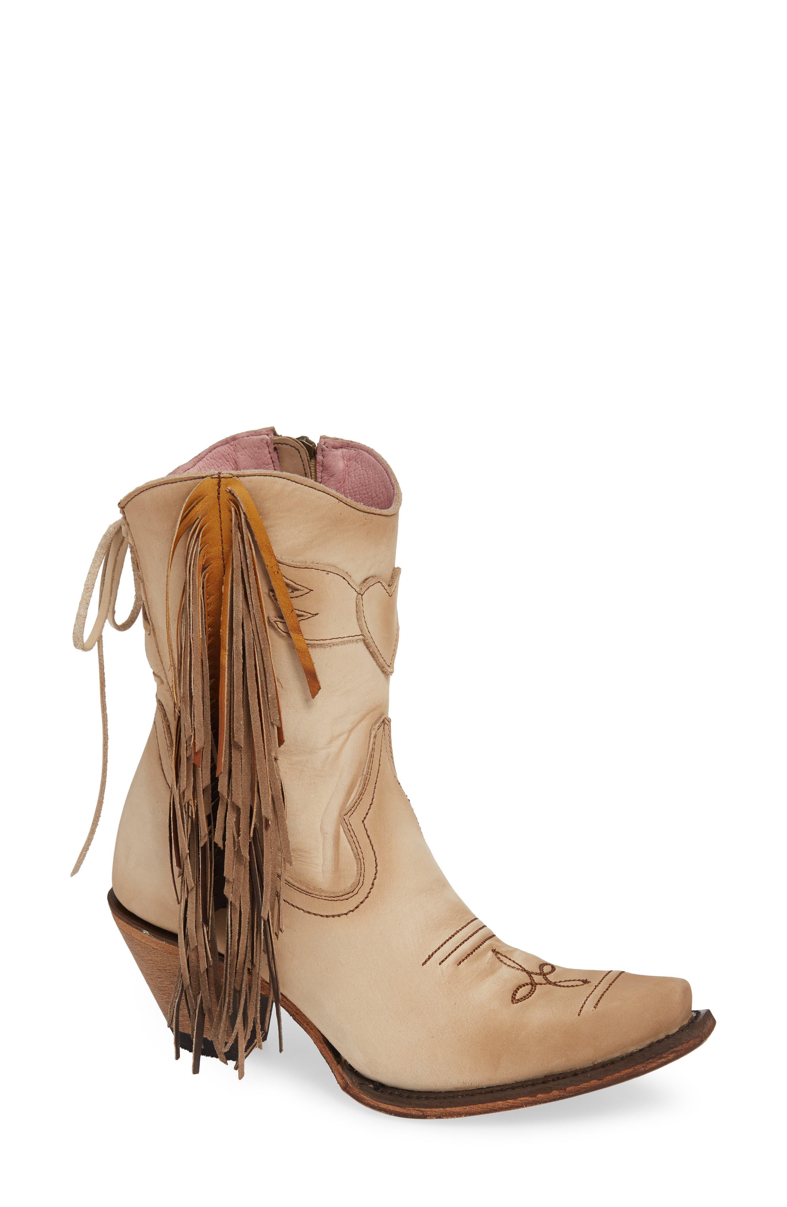 X Junk Gypsy Fringe Western Bootie
