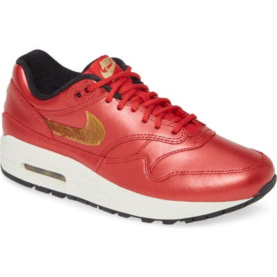 Nike Air Max 1 Sneaker, Red