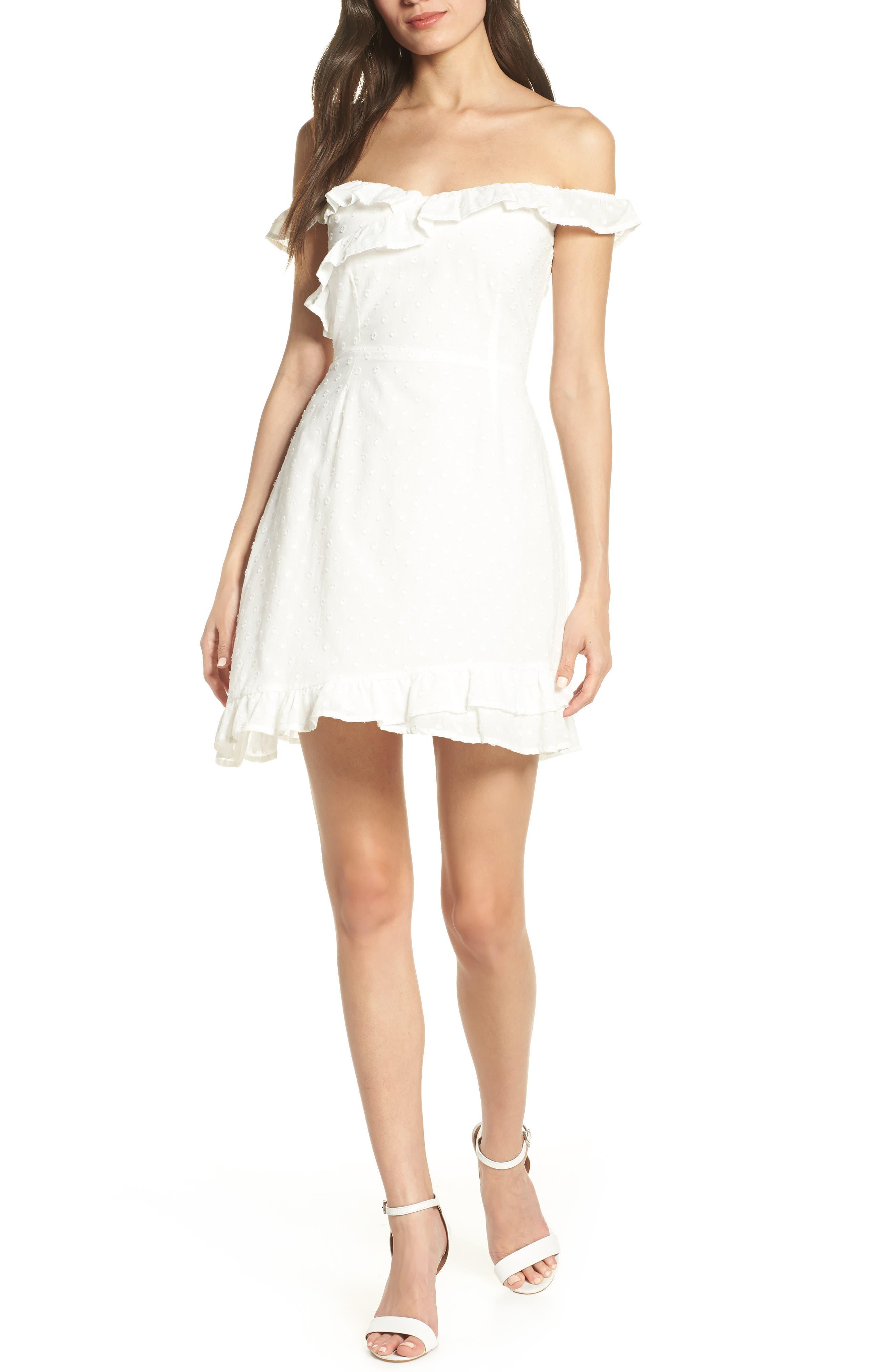 Bb Dakota Say No More Wear Two Ways Cotton Dress, Ivory