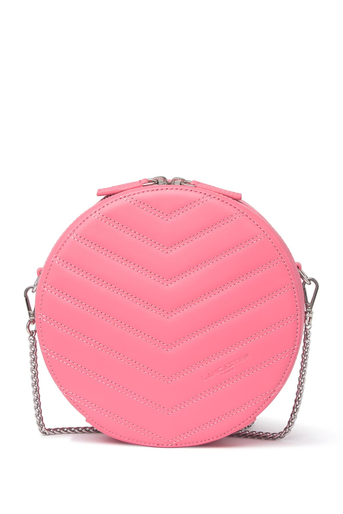 Image of Lancaster Paris Small Round Quilted Leather Crossbody Bag