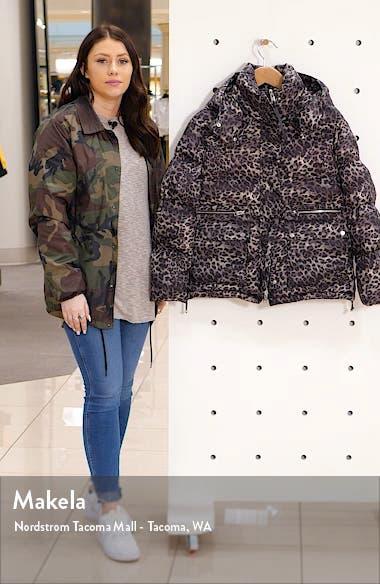 Kala Leopard Puffer Coat, sales video thumbnail
