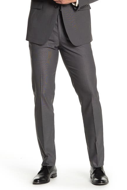 Image of Nordstrom Rack Pindot Trim Fit Suit Separate Trousers