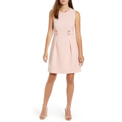 Anne Klein Anne Crepe Fit & Flare Dress, Pink