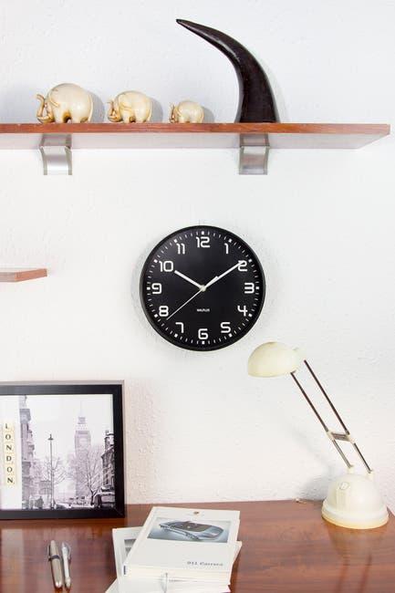 Image of WalPlus Black ChicTime Black 25cm Wall Clock Quality Silent Movement