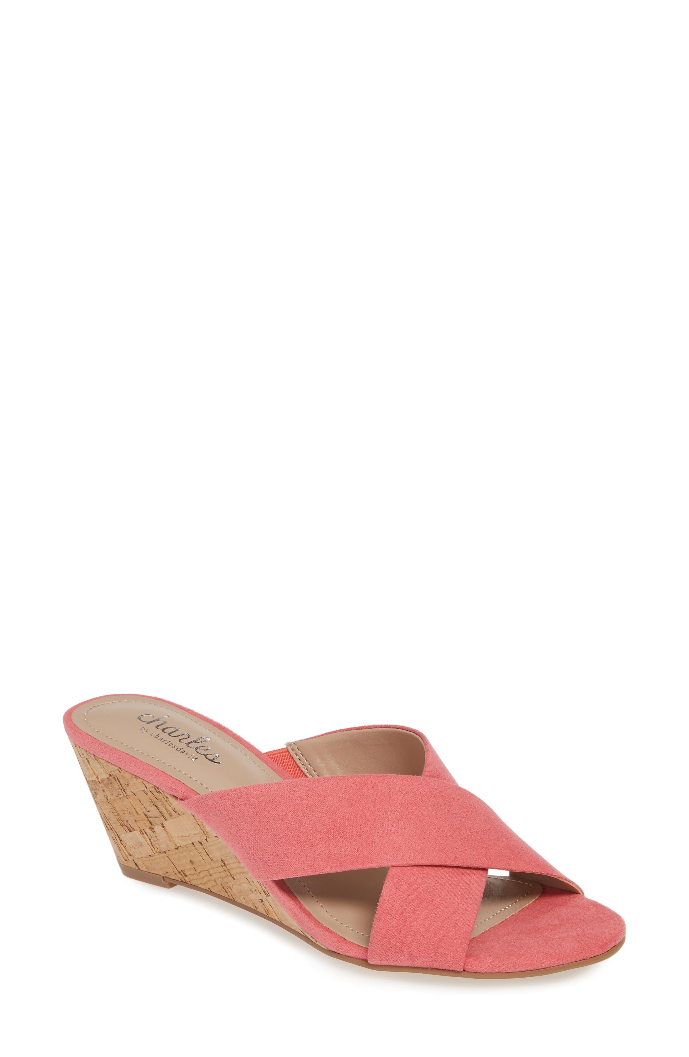 Charles By Charles David Grady Slide Sandal, Coral