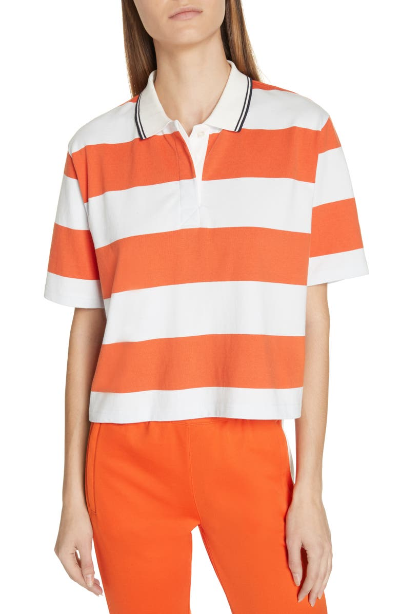 TORY SPORT Stripe Crop Polo, Main, color, 854