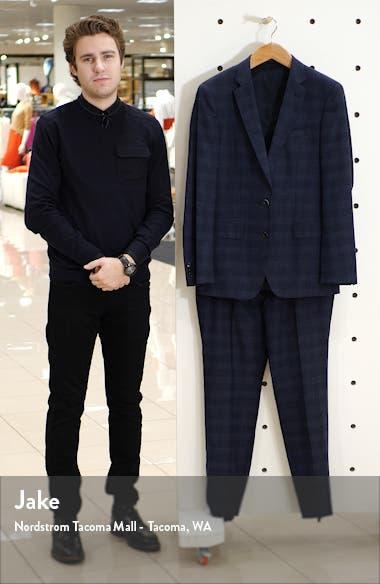 Huge/Genius/We Trim Fit Plaid Wool Three Piece Suit, sales video thumbnail