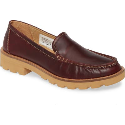 Sperry Authentic Lug Sole Loafer, Burgundy