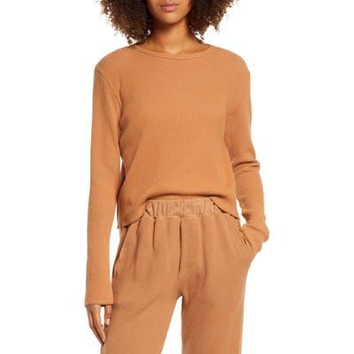 Groceries Apparel Organic Cotton Thermal Pajama Top, Metallic