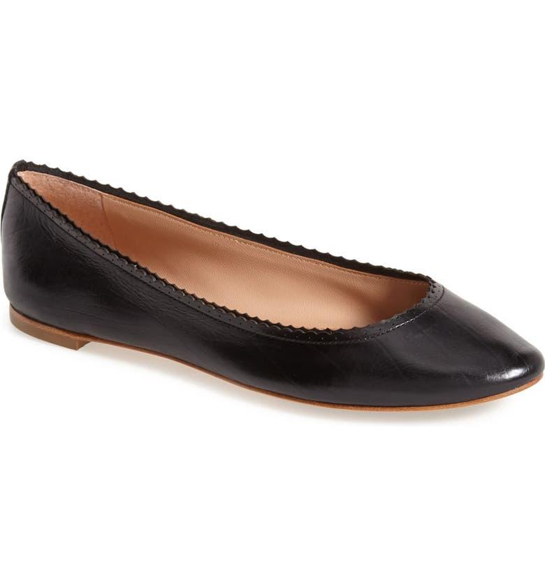 VC SIGNATURE 'Alzey' Leather Ballet Flat, Main, color, 002