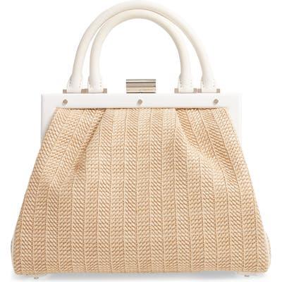 Perrin Le Maxi Raffia Top Handle Bag - Beige