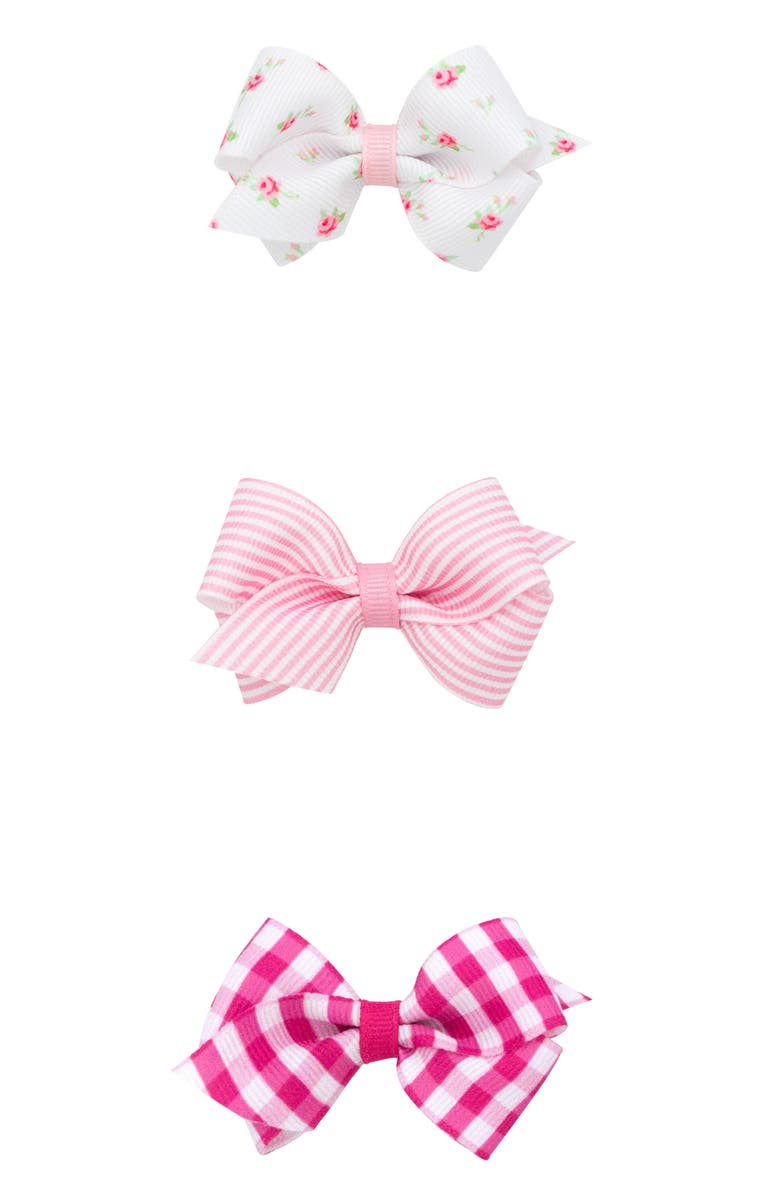PLH BOWS 3-Pack Bows, Main, color, LIGHT PINK