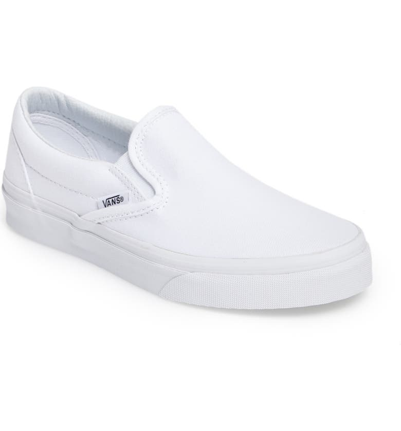 VANS Classic Slip-On Sneaker, Main, color, TRUE WHITE