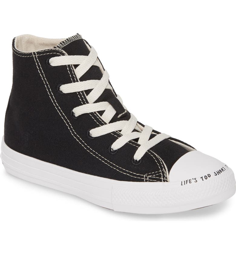 CONVERSE Chuck Taylor<sup>®</sup> All Star<sup>®</sup> Renew High Top Sneaker, Main, color, BLACK/ NATURAL/ WHITE