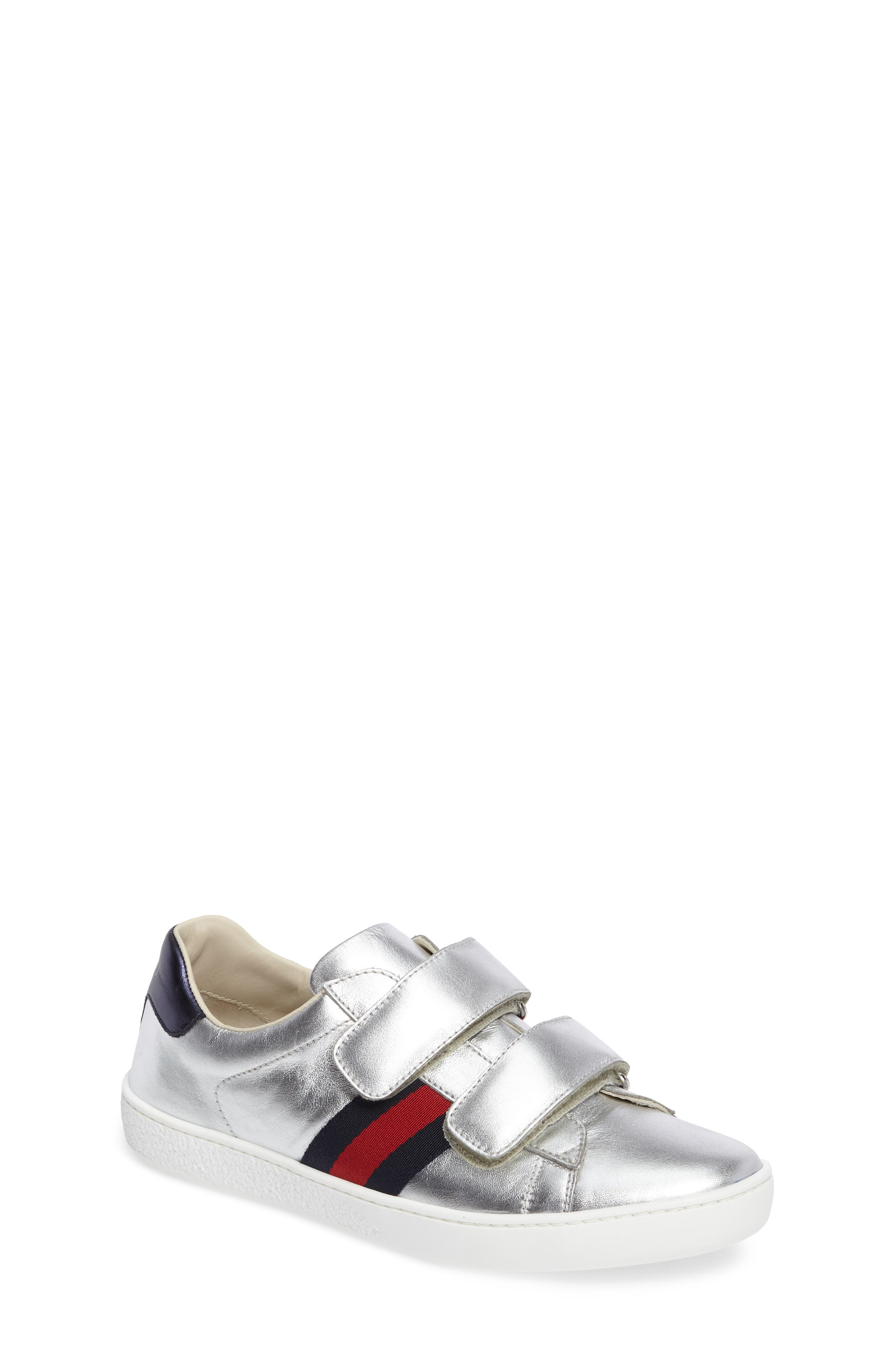 Kids Gucci New Ace Sneaker Size 5US  37EU  Metallic