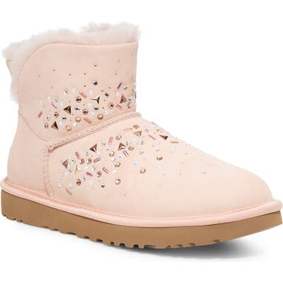 UGG Classic Galaxy Bling Mini Bootie, Pink