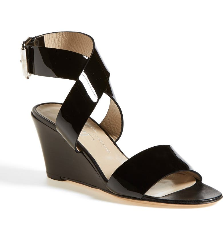 AGL Ankle Wrap Wedge Sandal, Main, color, 001