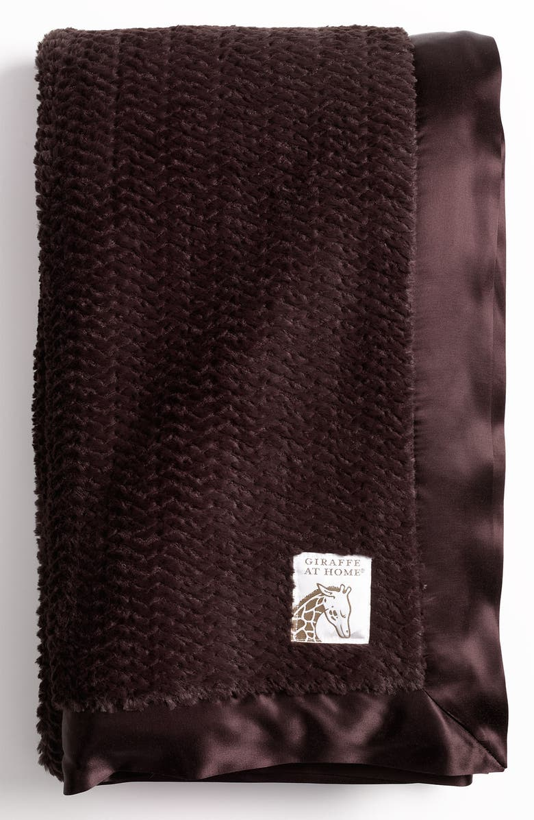 GIRAFFE AT HOME 'Luxe Twist' Throw, Main, color, CHOCOLATE