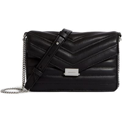 Allsaints Small Justine Quilted Leather Crossbody Bag - Black