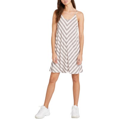 Volcom Have Another Stripe Dress, Ivory