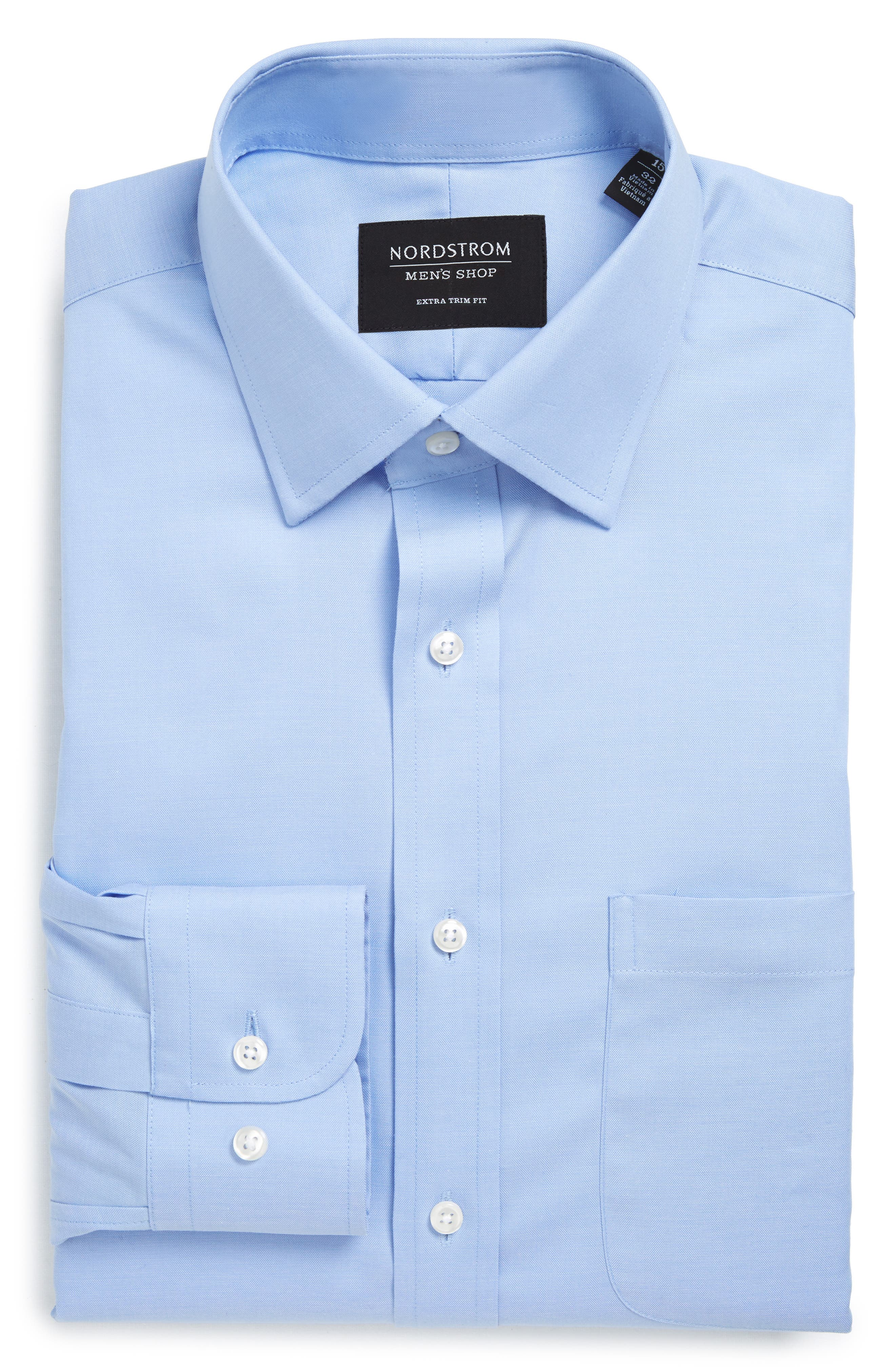 ,                             Extra Trim Fit Non-Iron Solid Dress Shirt,                             Alternate thumbnail 60, color,                             450