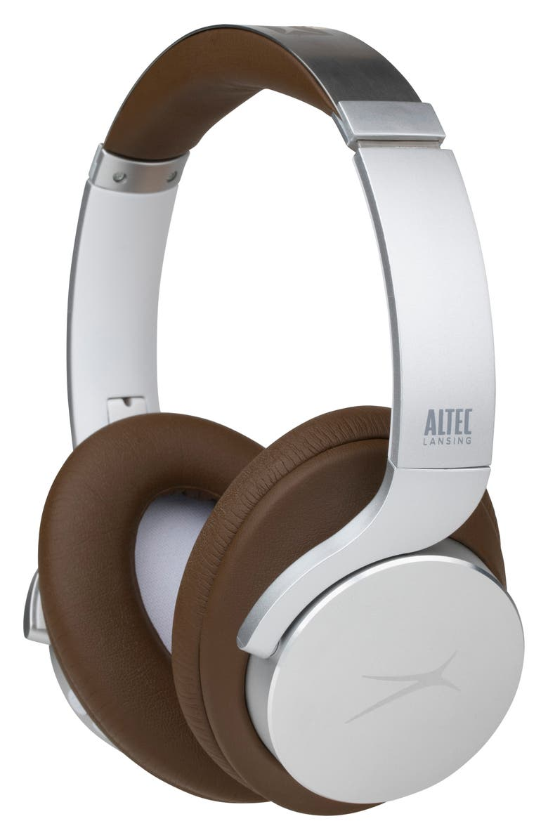 ALTEC LANSING ComfortQ+ Active Noise Canceling Wireless Headphones, Main, color, SILVER/BROWN