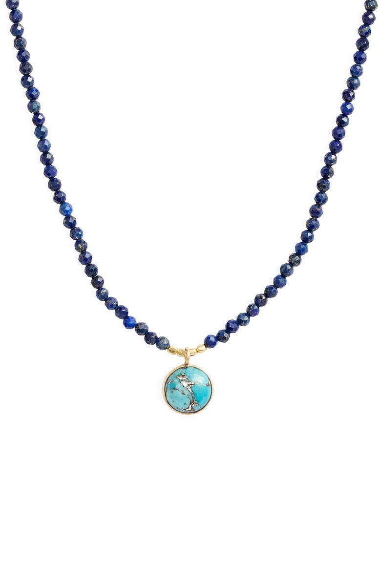 COLLECTIONS BY JOYA Mia Beaded Pendant Necklace, Main, color, 440