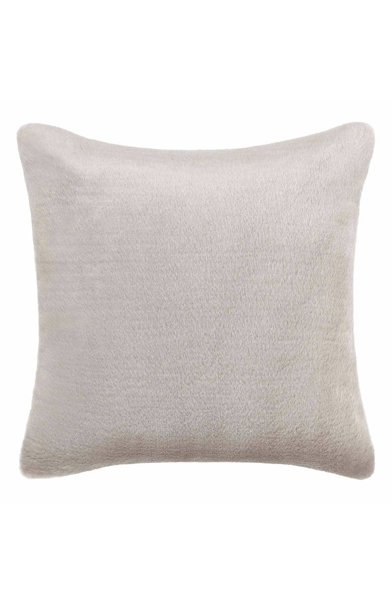 VERA WANG Faux Fur Accent Pillow, Main, color, GREY